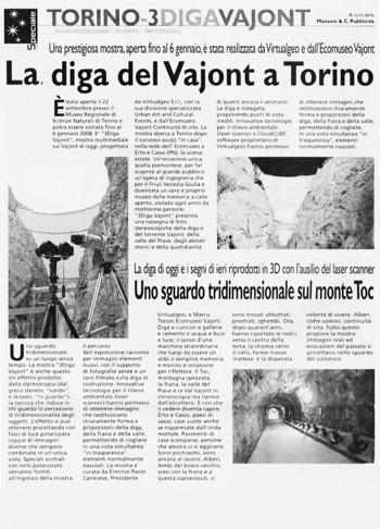 2007 Il Messaggero Veneto, Vajont.
