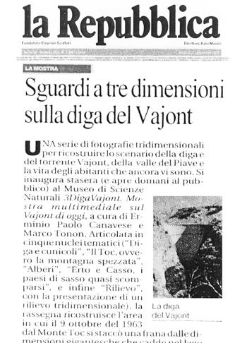 2007 La Repubblica, Vajont.