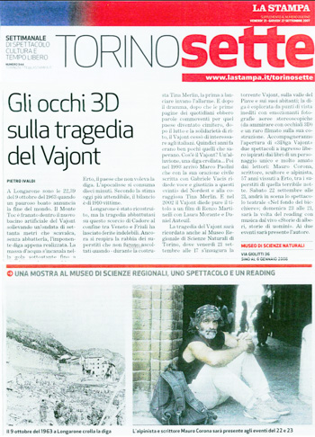 2007 La Stampa, Vajont.