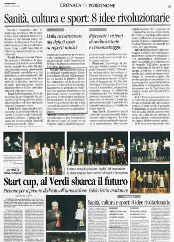 Messaggero Veneto, Start Cup.
