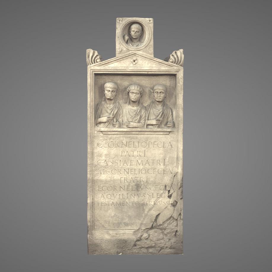 Stele Sepolcrale dei Corneli. | Modello 3D