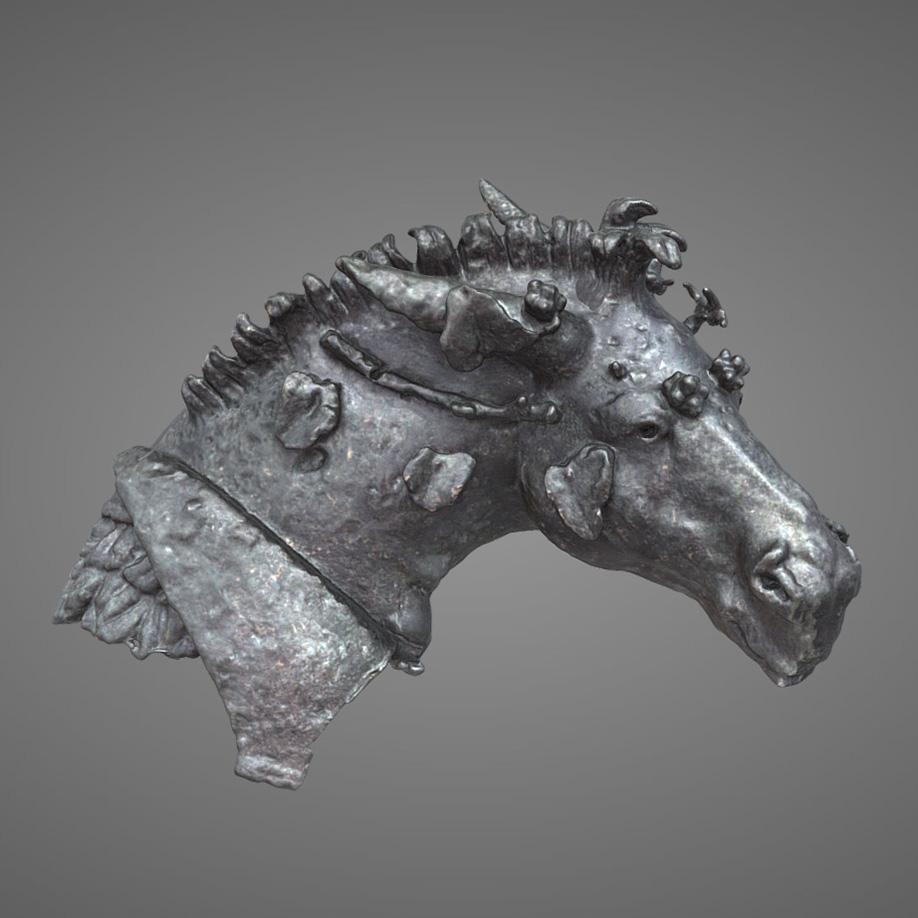 Testa di mulo bacchico - Bacchus mule head. | Modello 3D