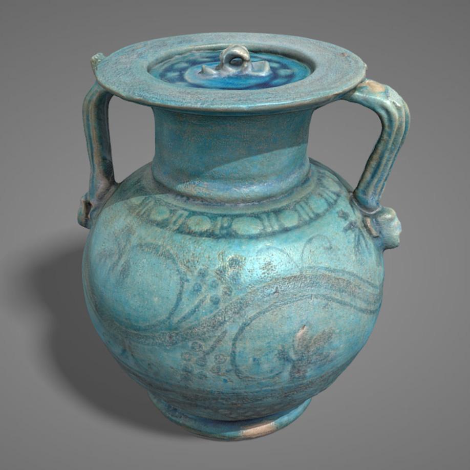 Anforetta in vetro | glass amphora. | Modello 3D