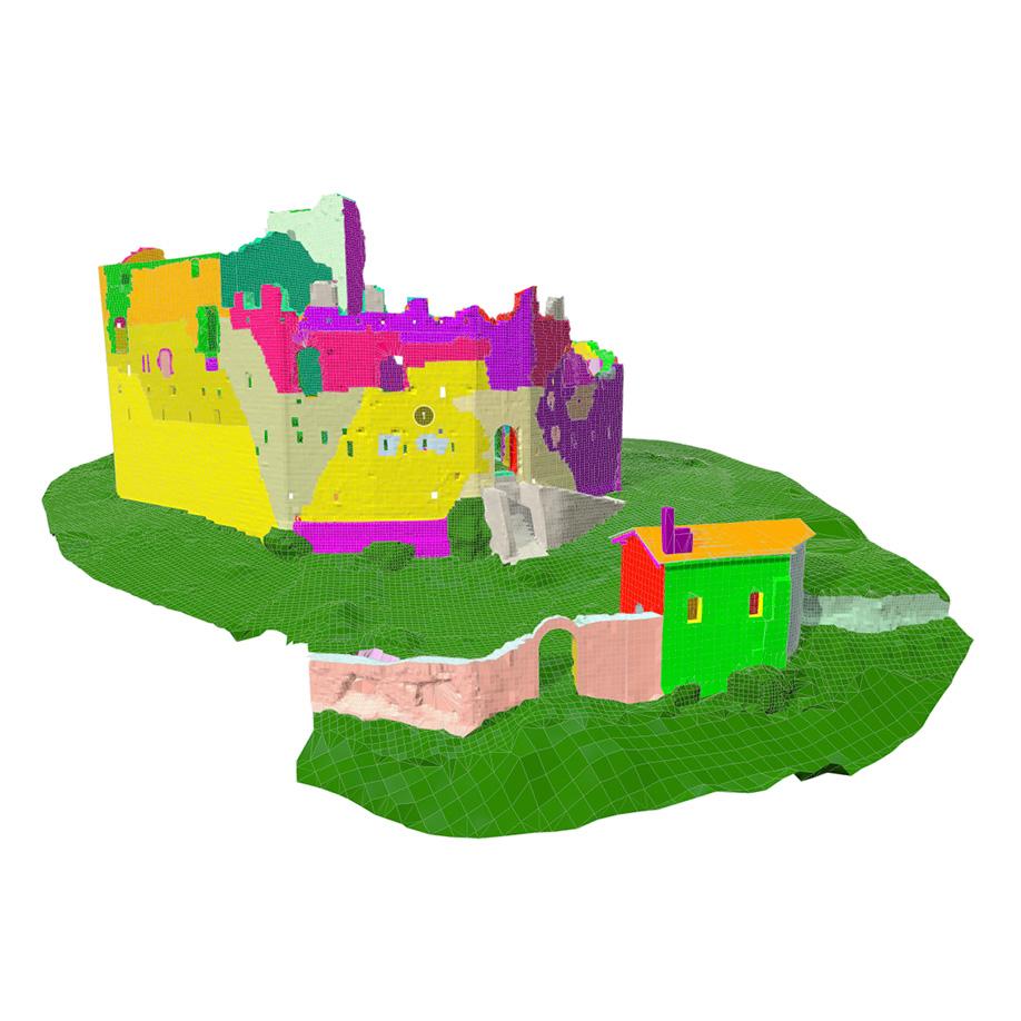 Castle of Toppo, Travesio (PN), Italy #1. | Modello 3D