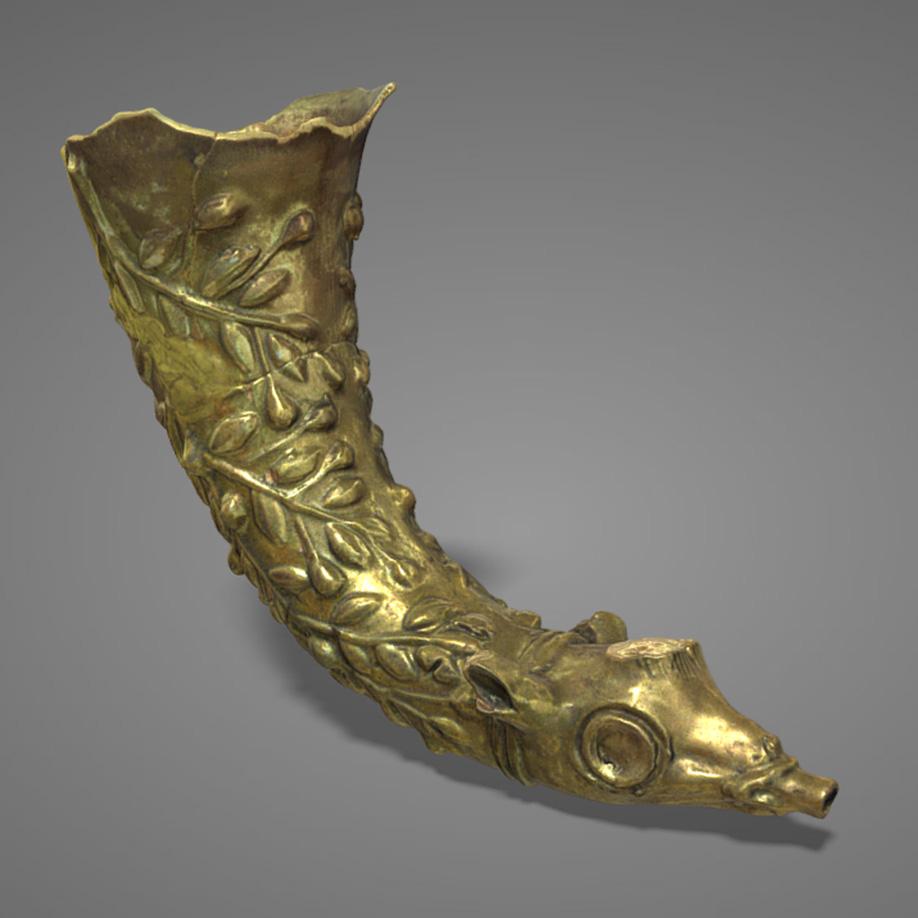 Rython in ceramica invetriata | ceramic rython. | Modello 3D