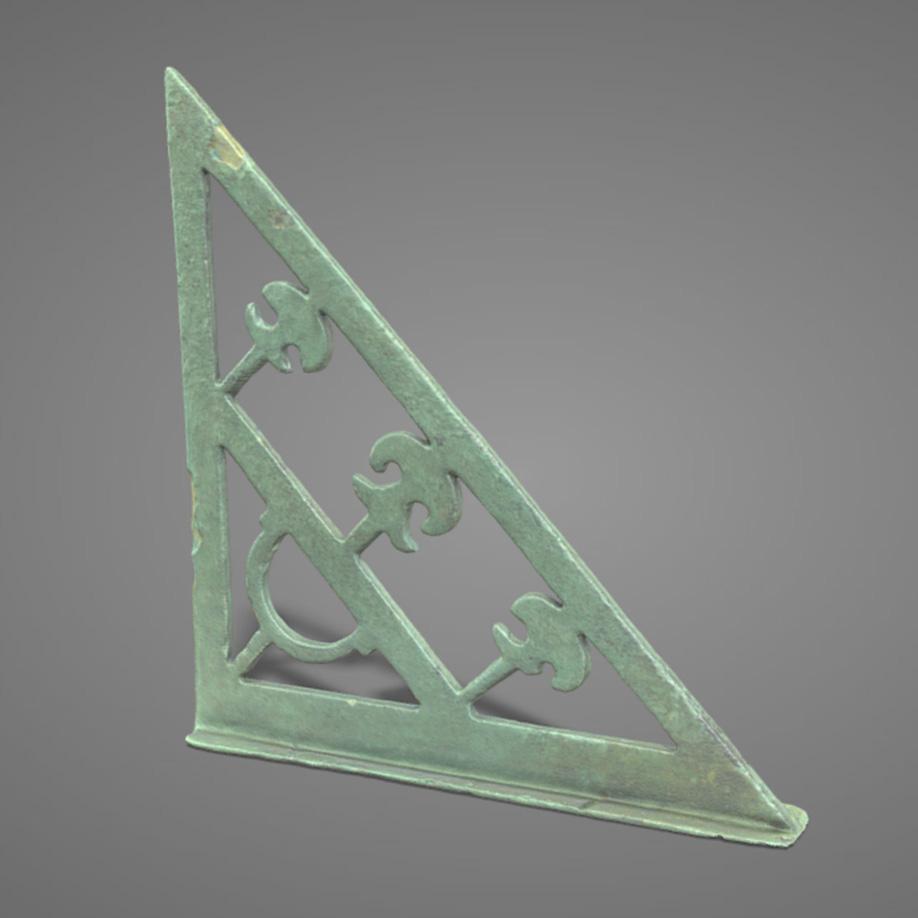 Squadra in bronzo | bronze set square. | Modello 3D