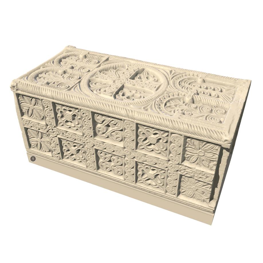 St. Anastasia's urn, Sesto al Reghena, Italy. | Modello 3D