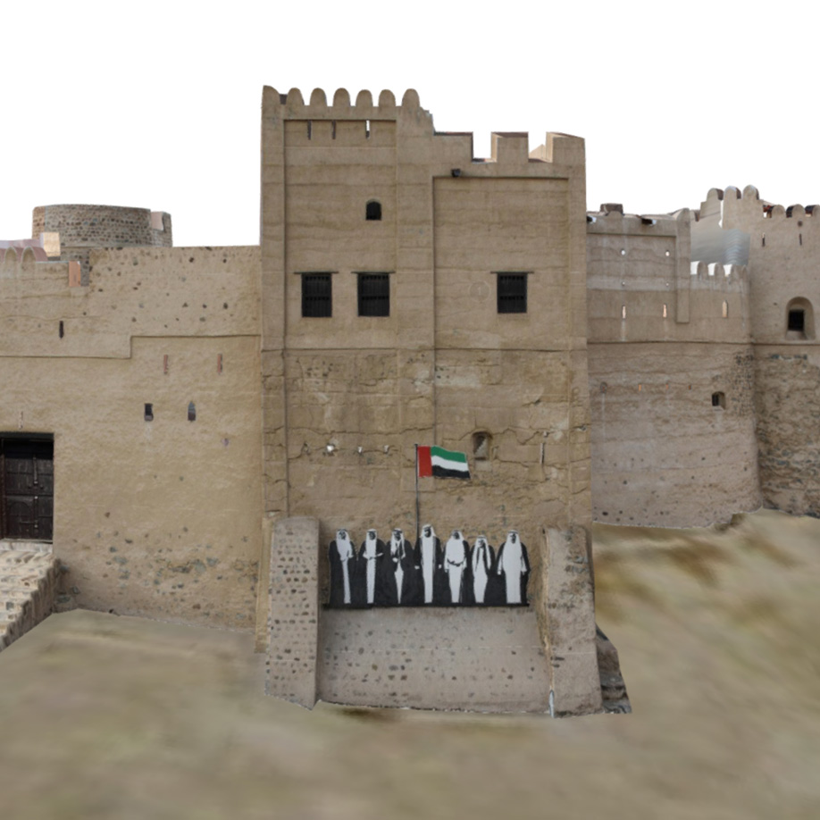 Fujairah Fort, United Arab Emirates. | Modello 3D