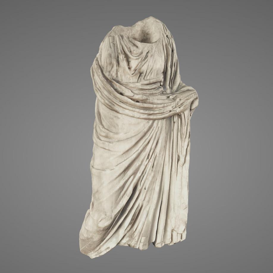 Statuetta Femminile Drappeggiata-Female figurine. | Modello 3D