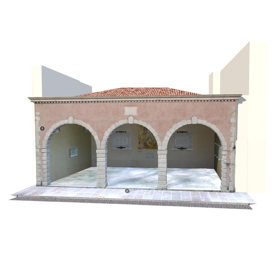 Loggia dei Caduti | Maniago (Pn), Italy. | Modello 3D