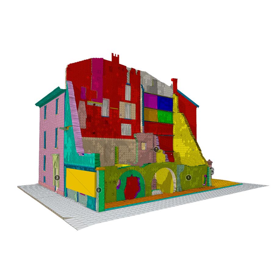 Ruins of a building, Milan, Italy. | Modello 3D