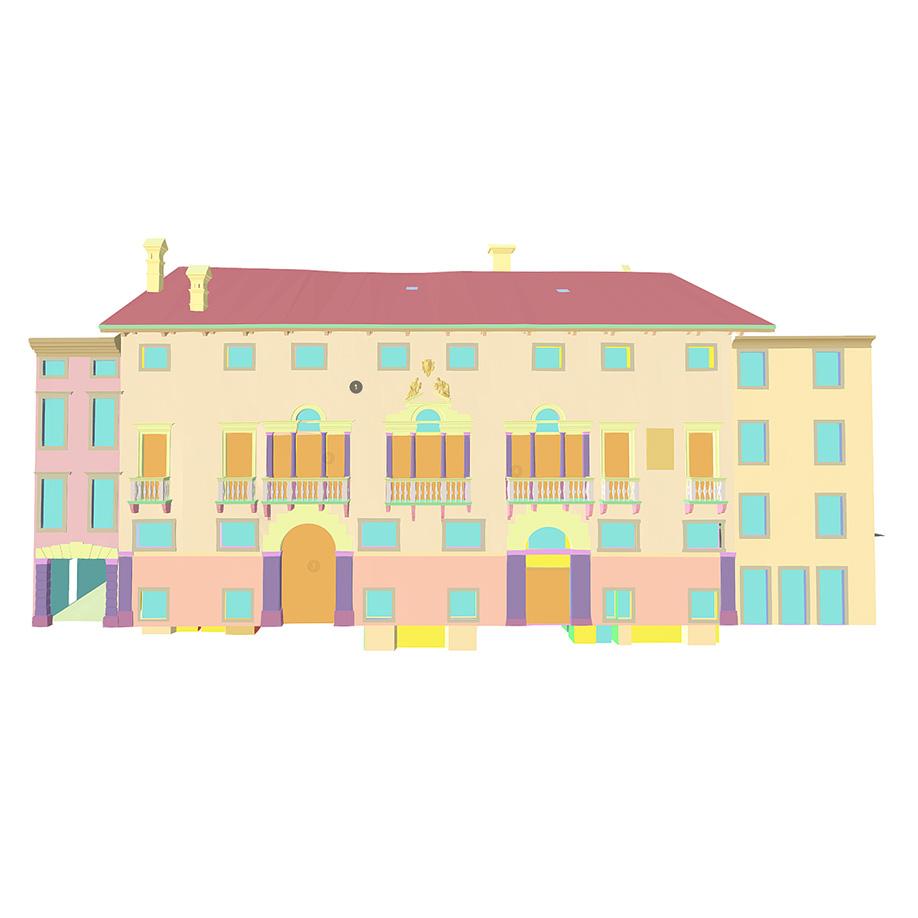 Antonini-Mangilli-Del Torso palace, Udine, Italy. | Modello 3D