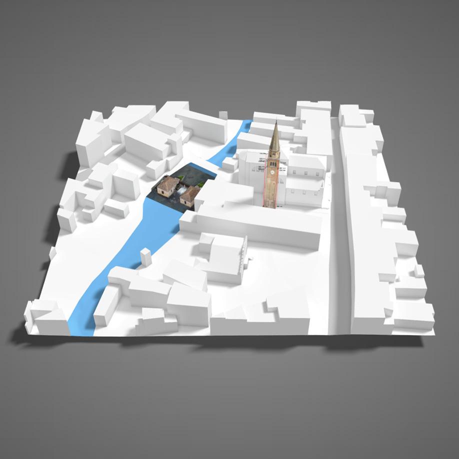 Mulini e Campanile di S.Andrea, Portogruaro. | Modello 3D