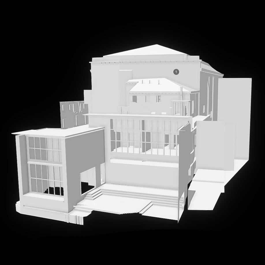 Rossini teatre, Venice, Italy. | Modello 3D