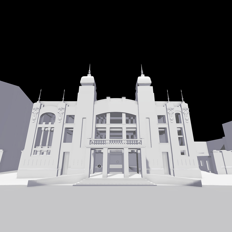 State Opera and Ballet Theater, Baku, Azerbaijan. | Modello 3D