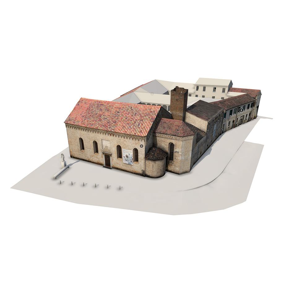 Ex Convento di San Francesco, Pordenone, Italy. | Modello 3D