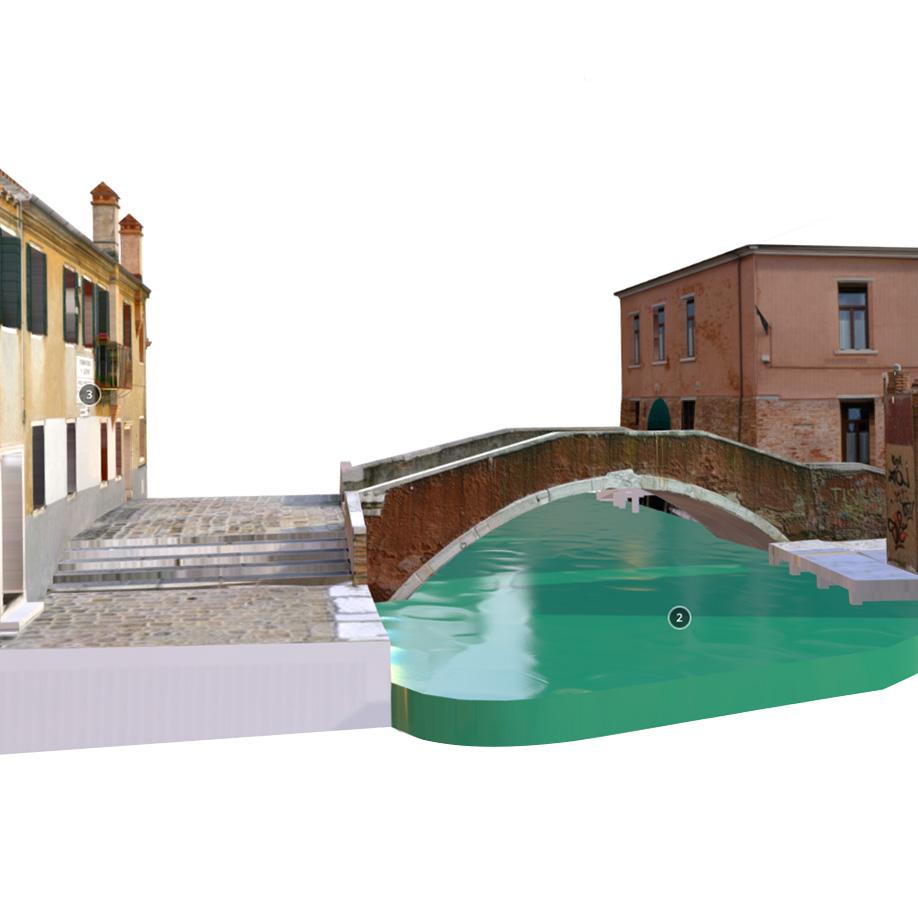 St. Bonaventura Bridge, Venice, Italy. | Modello 3D