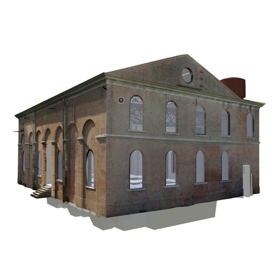 Ex generator building Arsenale, Venezia, Italy. | Modello 3D