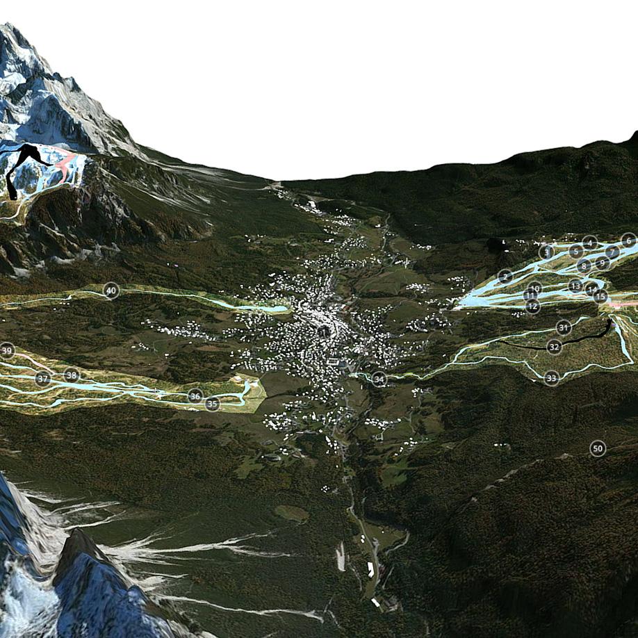 Ski Slopes, Cortina d'Ampezzo, Italy #2. | Modello 3D