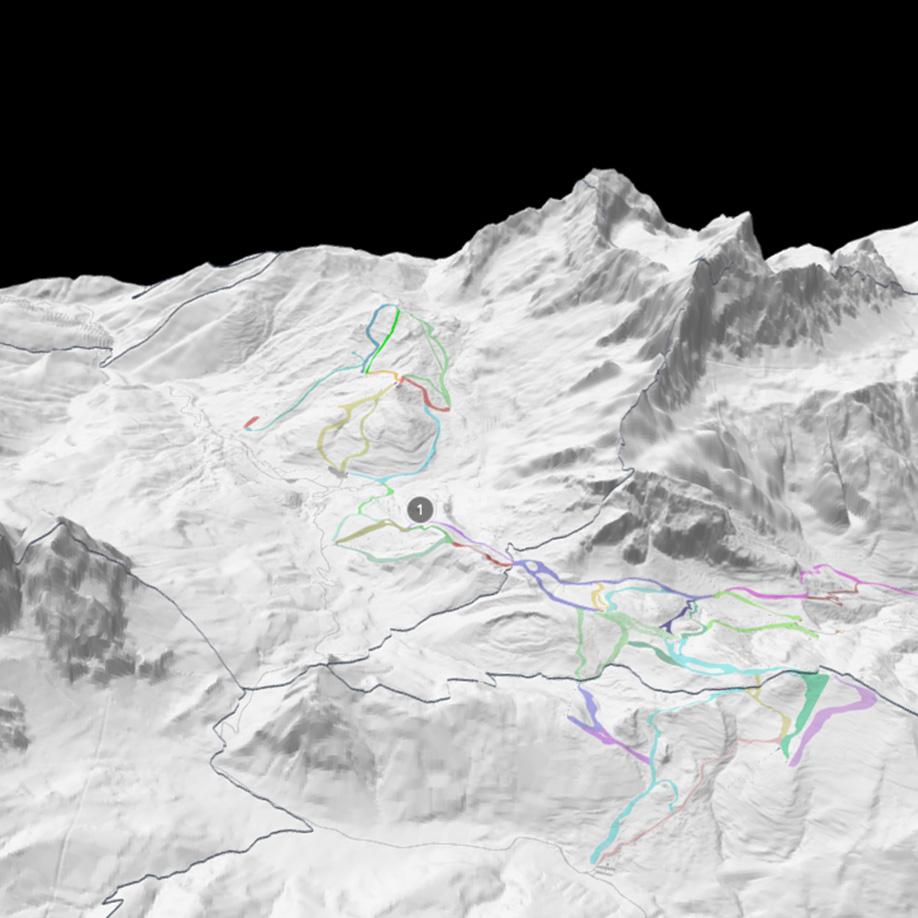 Ski slopes, Val Zoldana, Italy. | Modello 3D