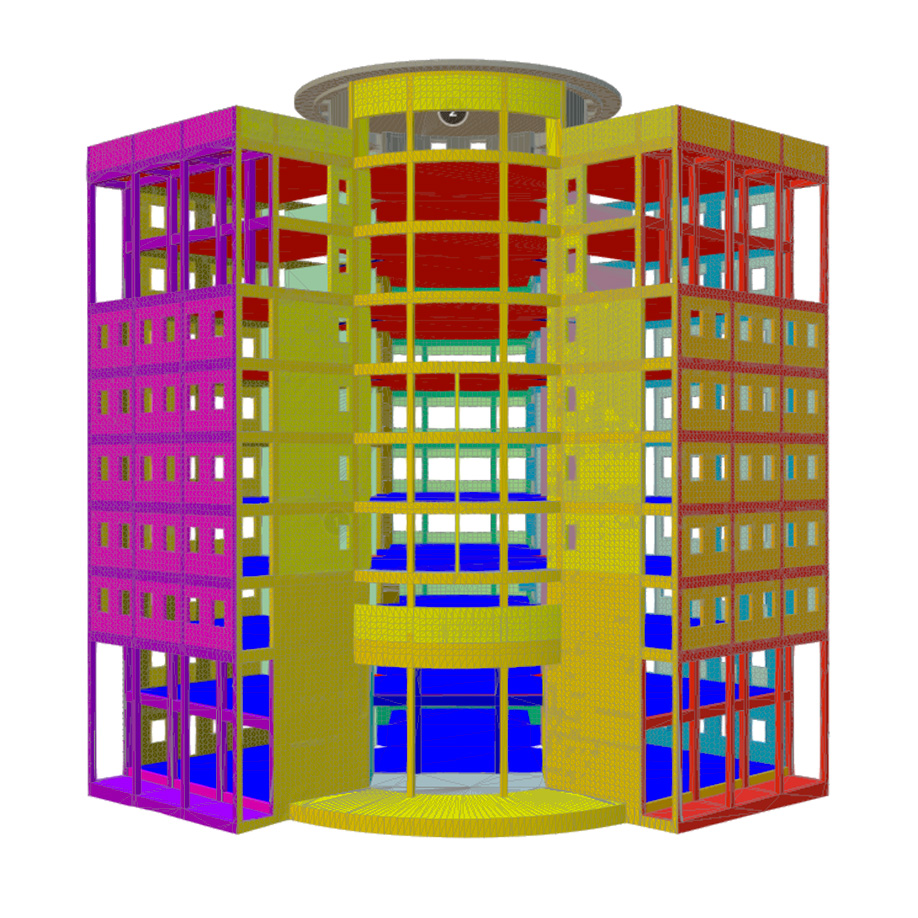 Structural survey model of a building, Gambia. | Modello 3D