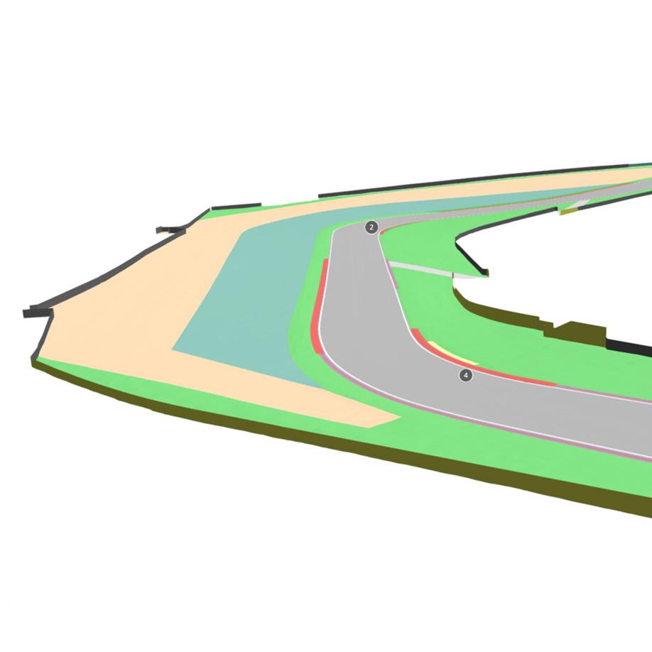 Imola racetrack bend called Piratella Muro. | Modello 3D